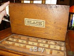 Clark's ONT Revolving 4 Sided Spool Thread Rare Old Store Display Case