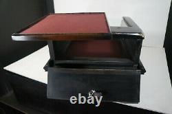 Countertop display case, 1/4 glass, removable display tray + storage