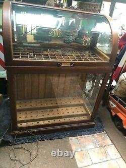 Country GENERAL Store DISPLAY OAK CANE CASE 1900s CABINET pickup only
