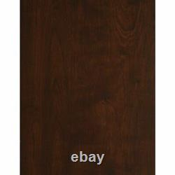 Curio Display Cabinet Library Cupboard Wood Glass Office Case Doors Storage Home