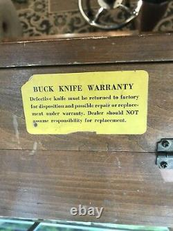 Custom Made Double Buck Knife General Store Counter Display Case Sign Dovetail