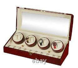 Diplomat Estate Cherrywood Eight 8 Watch Winder Wood Display Storage Case Box