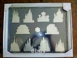 Disney store Castle Collection Pin collector Display Case frame box cinderella