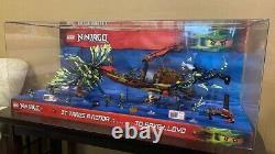 EUC RARE Large Lego Ninjago Retail Store Display Case 70736 + 70738 Collectors
