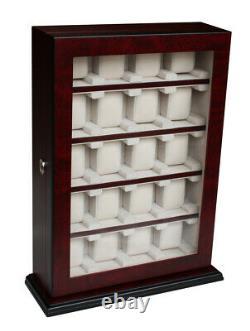 Elegant Watch Jewelry Display Storage Holder Case Glass Box Organizer Gift r