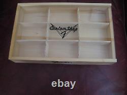 Fender Custom Shop Logo Wood Store Display Box Case Fender Guitar Picks Pick NOS