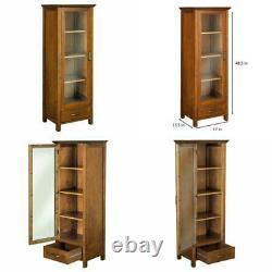 Floor Cabinet Curio Case Display Storage Shelf Glass Doors Elegant Calais Linen