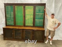 GENERAL STORE DULUTH BACK COUNTER WITH 230+ DRAWS. OAK EALRY 1900s MAKE OFFER