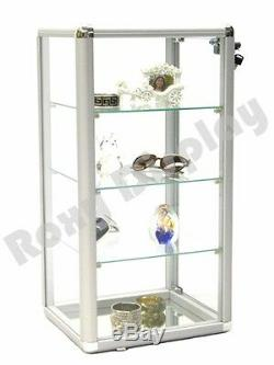 Glass Countertop Display Case Store Fixture Showcase with front lock #SC-KDCAB