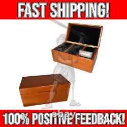 Graded Card Storage Box Case PSA 45 Slabbed Cards Solid Wood Display