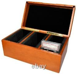 Graded Card Storage Box for 45 PSA Slabbed Cards Solid Wood Display Case
