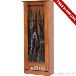 Gun Cabinet Rifle Shotgun Firearm Security Storage Locker Display Rack Shelf