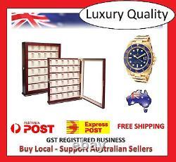 Hand Made 30 Watch Cabinet Luxury Case Storage Display Box Jewellery Watches 13