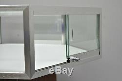 Hexagonal Glass Palay Display Sliding Door Retail Jewelry Store Display Case