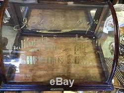 Jp Primleys Gum Case By J. Riswig Curved Glass Store Display Case Antique