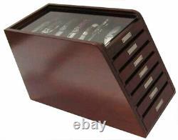 Knife Display Case Storage Cabinet Tool Box, Rosewood