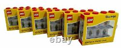 LEGO Pack of 6 Small 8 Minifigure Storage and Display Cases RED NEW & SEALED