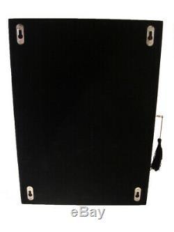 Large 20 Wrist Watch Storage Cabinet Chest Box Display Wood Case Matt Black
