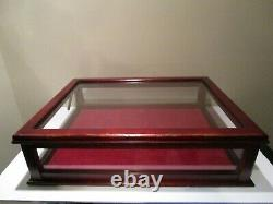 Large Vintage Glass Showcase/Store Display Case 4 glass sides withhinged Glass Lid