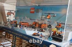 Lego City Arctic 60033 60034 60035 60036 Store Display Case