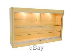 Maple Color Wall Showcase Display Store Fixture Knocked Down #WC439M