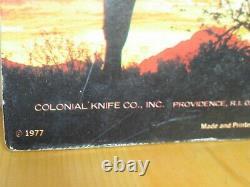 Mint Vintage 6 Ranger Colonial 1977 Store Advertising Display Case Pocket Knives