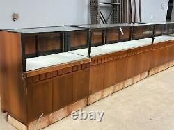 Must Sell! Store Lot 21 Pcs Custom Solid Wood Jewelry Display Showcases 56+ Feet