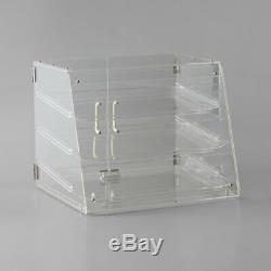 NEW 3 Tray Bakery Counter Display Case Rear Door Donut Pastry Cookie Hotel Store