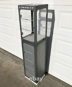 OAKLEY Cabinet Pedestal Counter Top Display Case Vault Mini Tower Rare 4.0 Store