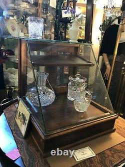 Oak Antique Wood Glass Store Counter Display Case Rear Door Circa 1920