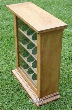 Oak Pocket Watch Jewelry Counter Upright Display Storage Case Cabinet