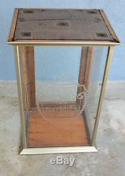 Original Antique VTG Store Display Case Nickel Showcase counter Woods Extract