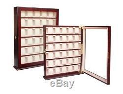 Quality 30 Watch Cabinet Luxury Case Storage Display Box Jewellery Watches 13