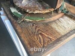 RARE Quartersawn oak country store cheese case w original knife 27 x 22 x 14