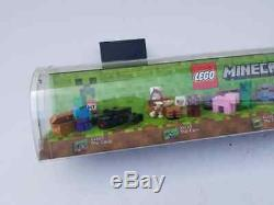 Rare Lego Minecraft Minifig Store Display Case Free Shipping