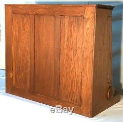 Rare Oak Country / General Store Merrick Sewing Thread Spool Display Cabinet