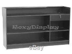 Register Black Stand Display Case Store Fixture Wood Knocked Down #LTC6BK