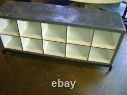 Retail Grey & White Cube Storage Display Table Cabinet Set 2
