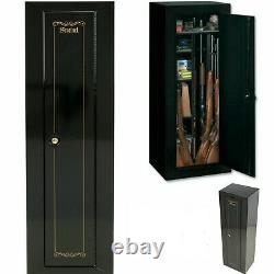 Rifle Storage Locker 10 Gun Security Cabinet Safe Locking System Key Code Strong