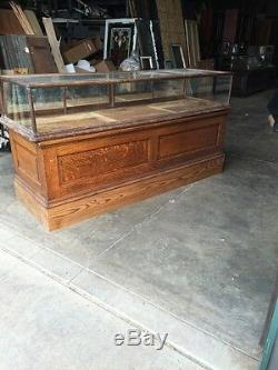 Sc 14 Antique Store Counter With Display CaseOak