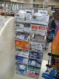 Single Dose Medicine Dispenser 14 slots C-store Fixture retail drug display POP