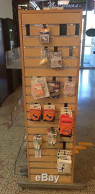 Slat Wall Retail Display Case Store Fixture with Adjustable Acrylic Shelving