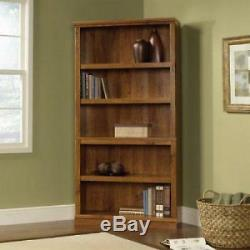 Solid Wood Bookcase Barrister Bookshelf 5 Tier Display Oak Book Storage Shelves