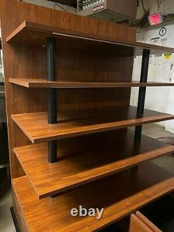 UCD Wood 41.5 Brown Product Retail Store Display Candy Fixture Shelf withDrawers