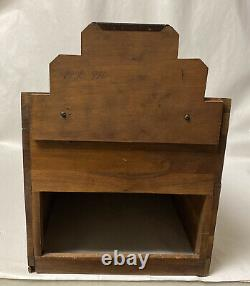 VINTAGE or ANTIQUE WOOD COUNTER TOP STORE DISPLAY CASE LOWNEY'S CHOCOLATES