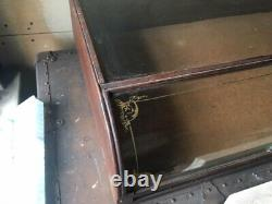 Victorian Old Antique Curved Glass Showcase/General Store Display Case Jewelry
