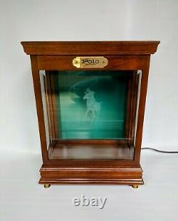 Vintage 1980s Ralph Lauren Polo Table Top Lighted Cologne Store Display Case