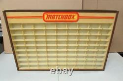Vintage Authentic 1970s Matchbox 81 Car Store Display Case Storage Cabinet