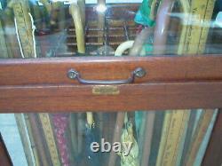 Vintage Cane Display Case The Osgar Onken co. Cincinnati Original General Store