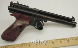 Vintage Crosman 116 C02 Powered Air Pistol & Home Range Display Storage Case
